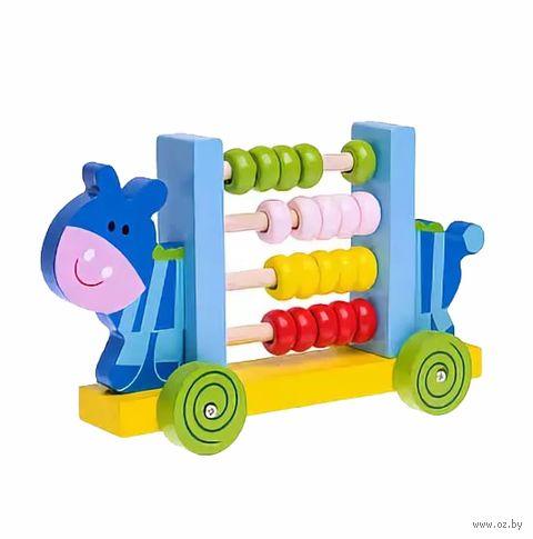 "Деревянная игрушка ""Счёты. Бегемотик"" — фото, картинка"
