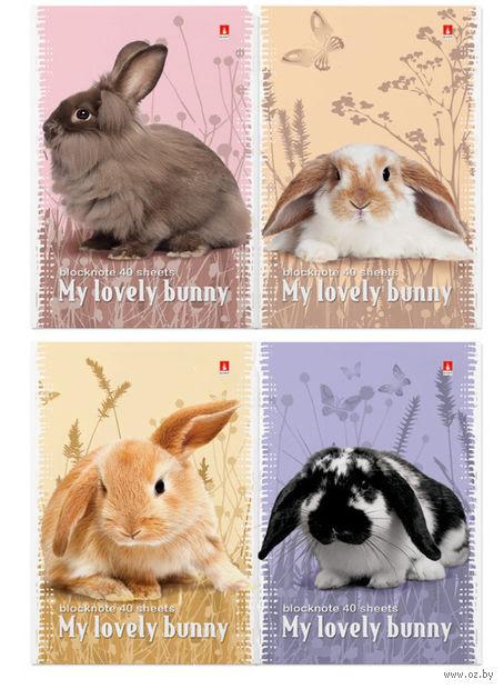 """Блокнот в клетку """"Милые крольчата"""" (А7) — фото, картинка"""