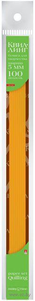 Бумага для квиллинга (300х5 мм; оранжевая; 100 шт.) — фото, картинка