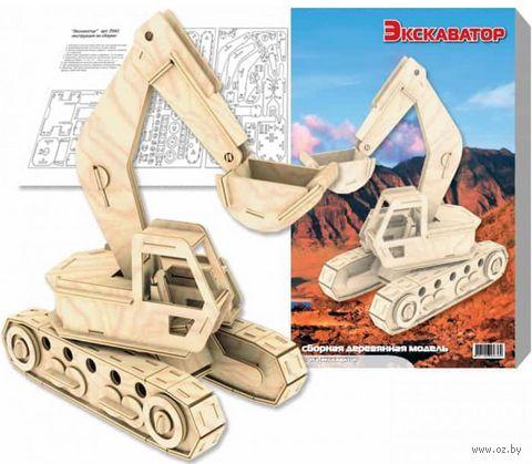 """Сборная деревянная модель """"Экскаватор"""" — фото, картинка"""