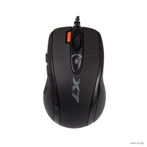Игровая оптическая проводная мышь A4 X-710MK USB (Black) — фото, картинка