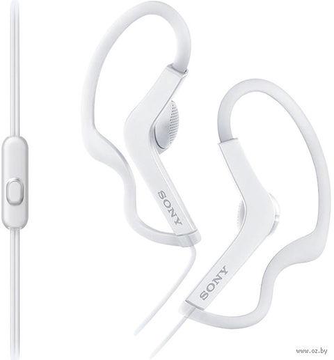 Наушники с микрофоном Sony MDR-AS210APW (белый) — фото, картинка
