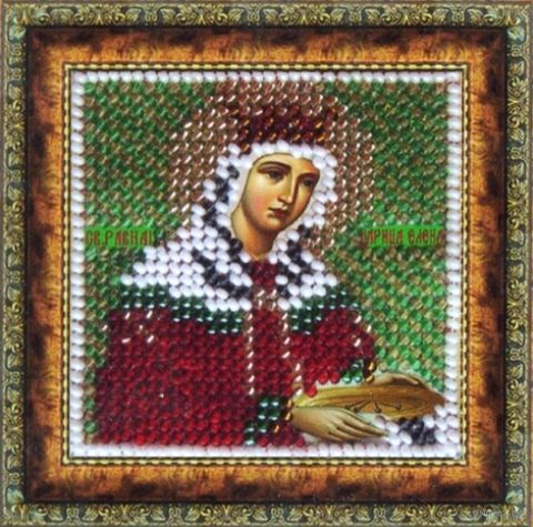 "Вышивка бисером ""Св. Царица Елена"" (65х65 мм) — фото, картинка"