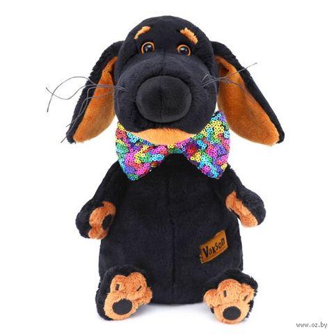 """Мягкая игрушка """"Ваксон в галстуке-бабочке в пайетках"""" (25 см) — фото, картинка"""