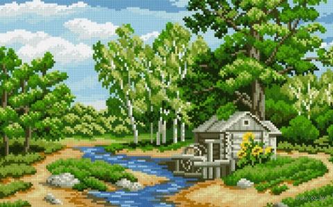 """Алмазная вышивка-мозаика """"Лесная река"""""""