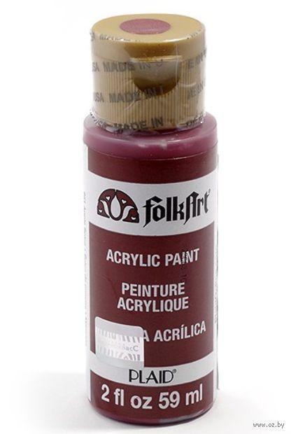 "Краска акриловая ""FolkArt. Acrylic Paint"" (красное яблоко; 59 мл; арт. PLD-00951) — фото, картинка"
