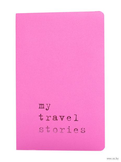 """Записная книжка Молескин """"Volant. My Travel Stories"""" нелинованная (карманная; мягкая светло-розовая обложка)"""