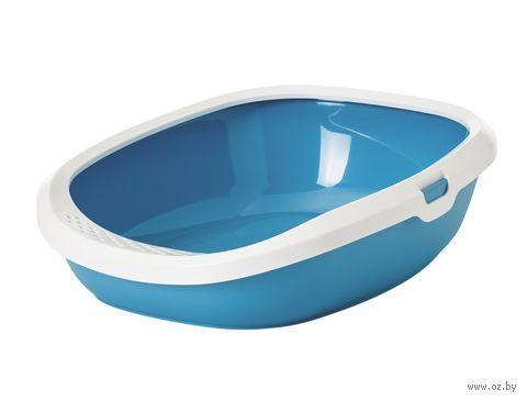 """Туалет для кошек """"Gizmo Large"""" (52х39,5х15 см; синий) — фото, картинка"""