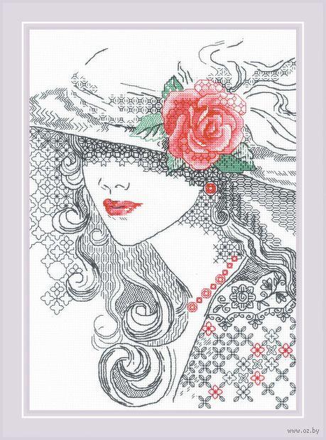 "Вышивка крестом ""Таинственная Роза"" (210х300 мм) — фото, картинка"