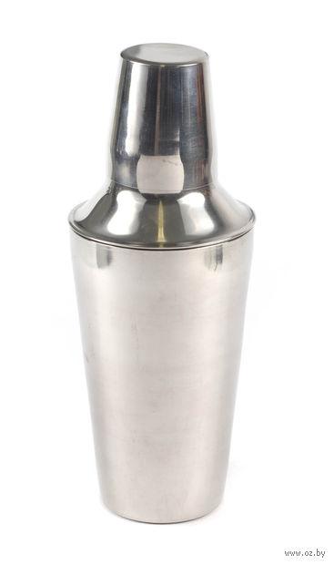Шейкер для коктейлей металлический (500 мл)