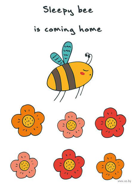 """Блокнот для записей """"Sleepy bee is coming home"""" A6"""