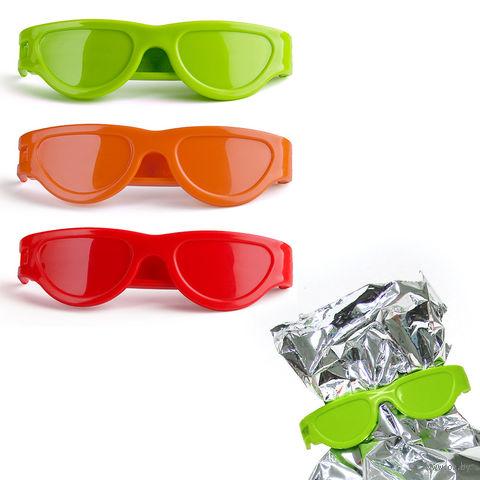 "Клипса для пакетов ""Bag Glasses"" (3 шт.; красная/зеленая/оранжевая)"