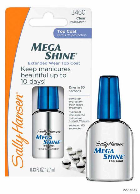 """Верхнее покрытие-сушка для ногтей """"Mega shine extended wear top coat"""" (13 мл)"""