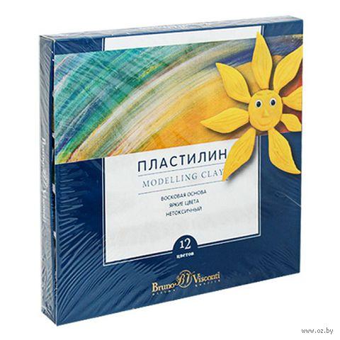 """Пластилин восковой """"MultiColor"""" (12 цветов; арт. 34-0009) — фото, картинка"""