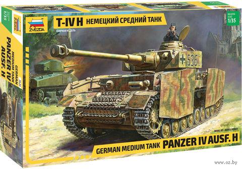 Немецкий средний танк Panzer IV Ausf. H (масштаб: 1/35) — фото, картинка
