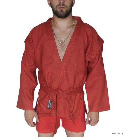 Куртка для самбо AX5 (р. 52; красная; без подкладки) — фото, картинка