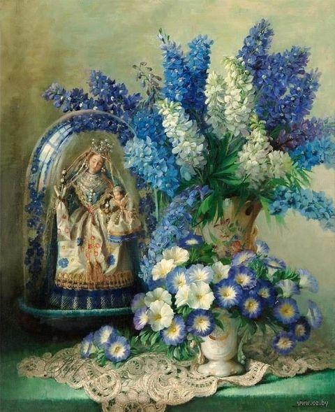 """Вышивка бисером """"Натюрморт в бело-голубых тонах"""" (230х280 мм) — фото, картинка"""
