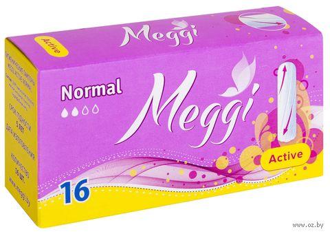 "Тампоны ""Meggi Active Normal"" (16 шт.) — фото, картинка"