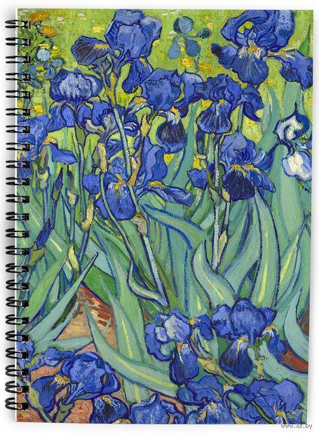 """Блокнот в клетку """"Ван Гог. Ирисы"""" (А5; арт. 2658) — фото, картинка"""