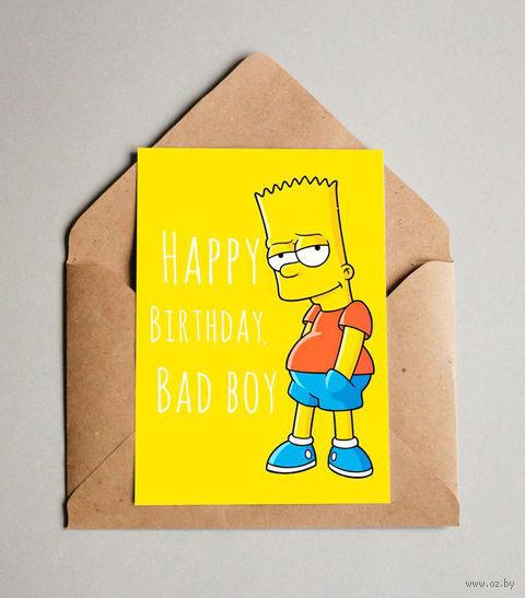 "Открытка ""Bad boy"" (арт. 608) — фото, картинка"