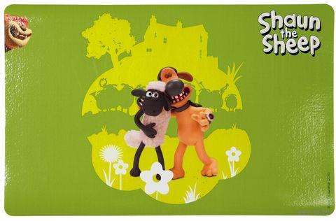 "Коврик под миску ""Shaun the Sheep"" (44х28 см; зеленый) — фото, картинка"