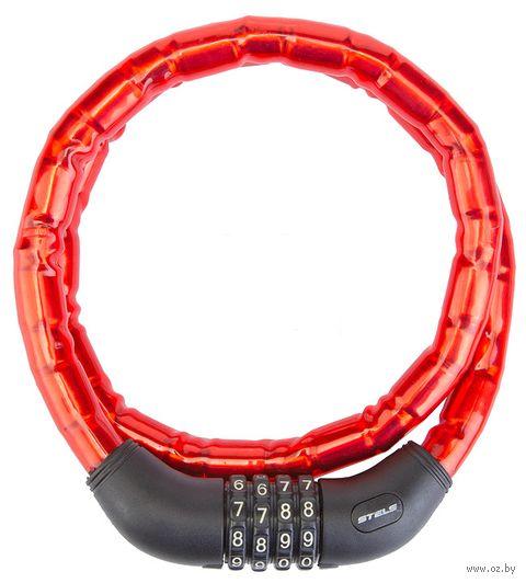 """Велозамок кодовый """"81601"""" (100 см; красный) — фото, картинка"""