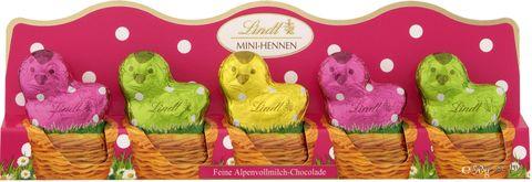 "Шоколад молочный фигурный ""Lindt. Chicken-mini"" (50 г) — фото, картинка"