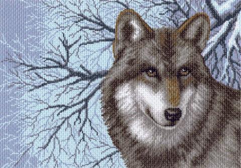 """Канва с нанесенным рисунком """"Волк"""" (арт. 1538) — фото, картинка"""