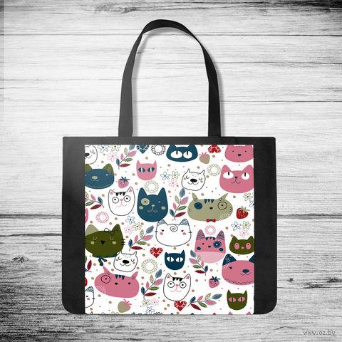 "Сумка-шоппер ""Cats"" (арт. 40) — фото, картинка"