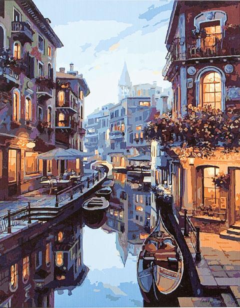 "Картина по номерам ""Венецианский канал"" (500х650 мм) — фото, картинка"