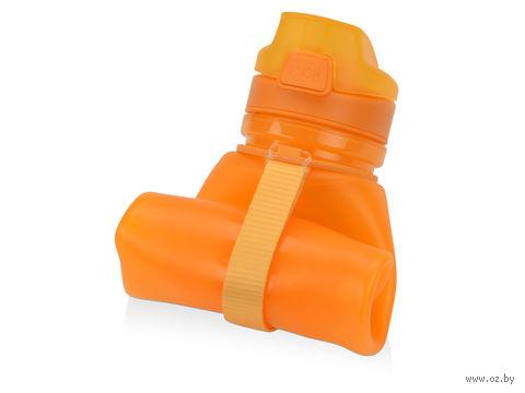 "Складная бутылка ""Твист"" (500 мл; оранжевая) — фото, картинка"