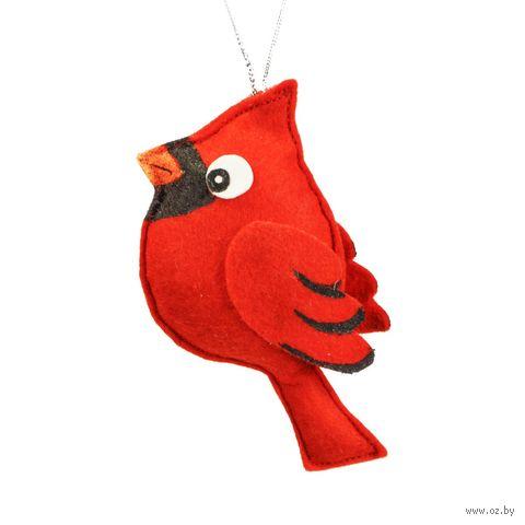 """Ёлочное украшение """"Красный кардинал"""" (арт. ЕФ-5) — фото, картинка"""