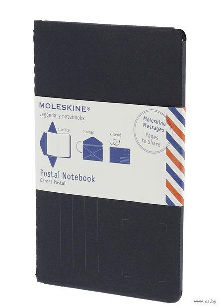 """Почтовый набор Молескин """"Postal Notebook"""" (большой; мягкая синяя обложка)"""