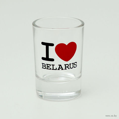 "Рюмка стеклянная ""I LOVE BELARUS"""