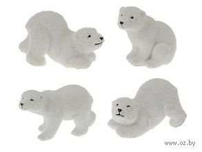 """Статуэтка пластмассовая """"Белый медведь"""" (40х110х60 мм)"""
