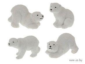 """Статуэтка пластмассовая """"Белый медведь"""" (4*11*6 см, арт. AAA507620)"""