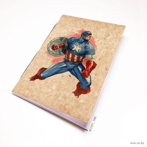 """Блокнот крафт """"Капитан Америка"""" А7 (арт. 221)"""