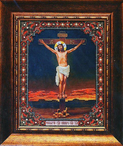 """Вышивка бисером """"Икона Распятие Господа Нашего Иисуса Христа"""""""