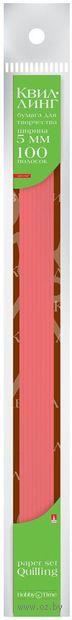 Бумага для квиллинга цветная (0,5х30 см; красная; 100 шт.) — фото, картинка