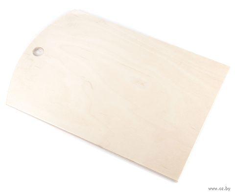 Доска разделочная деревянная (245х375х10 мм) — фото, картинка