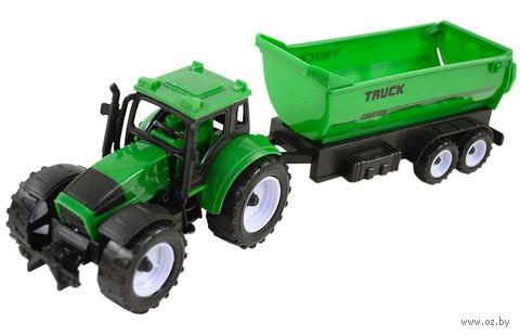 Трактор с прицепом (арт. 669-35) — фото, картинка