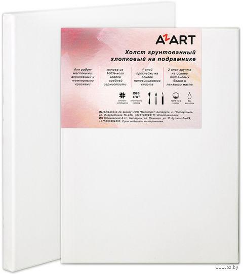 """Холст """"AZART"""" грунтованный хлопчатобумажный на подрамнике (50х60 см)"""