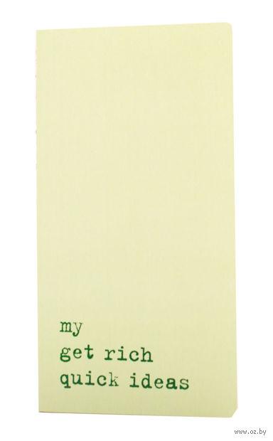 """Записная книжка в точку """"Chapter. My Get Rich Quick Ideas"""" (95х180 мм; светло-зеленая)"""