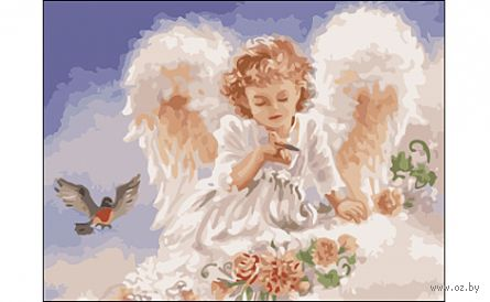 """Картина по номерам """"Милый ангел"""" (400x500 мм) — фото, картинка"""