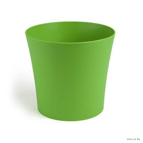 "Кашпо ""Фиалка"" (19 см; зеленое) — фото, картинка"