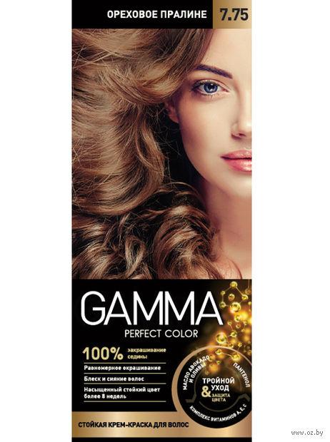 """Крем-краска для волос """"Gamma perfect color"""" (тон: 7.75, ореховое пралине) — фото, картинка"""
