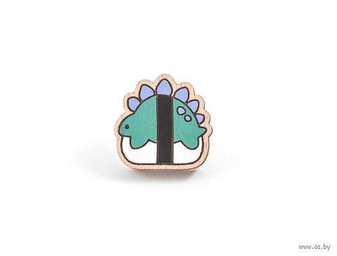 """Значок деревянный """"Сушизавр"""" — фото, картинка"""