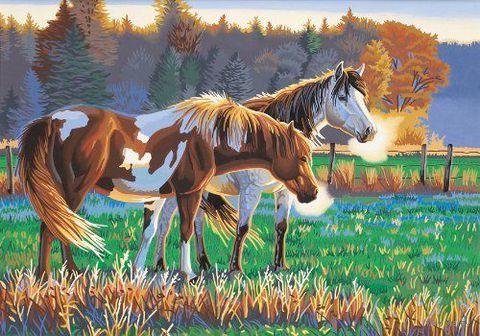 "Картина по номерам ""Кони на пастбище"" (360х510 мм; арт. DMS-91417)"
