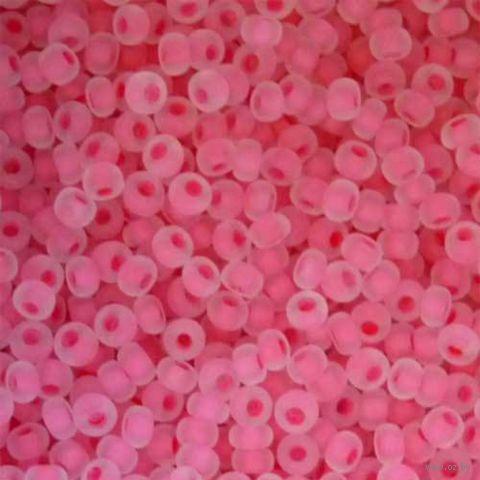 Бисер с цветным центром №38398 (матовый/розовый; 10/0)