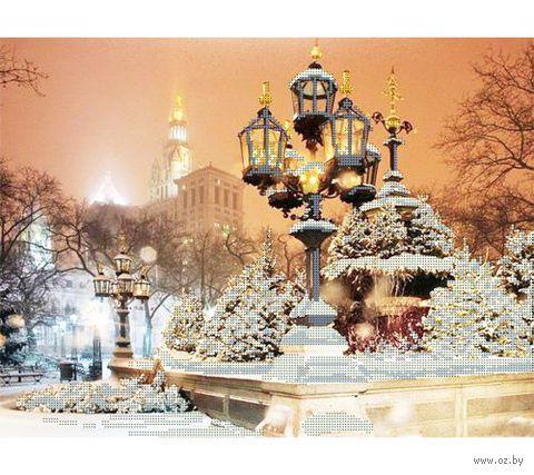 """Канва с нанесенным рисунком """"Парк Нью-Йорка"""""""
